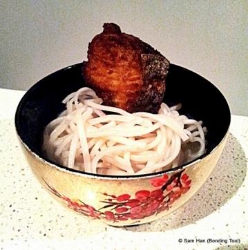 Yumilicious Fried Fish Noodle Soup.