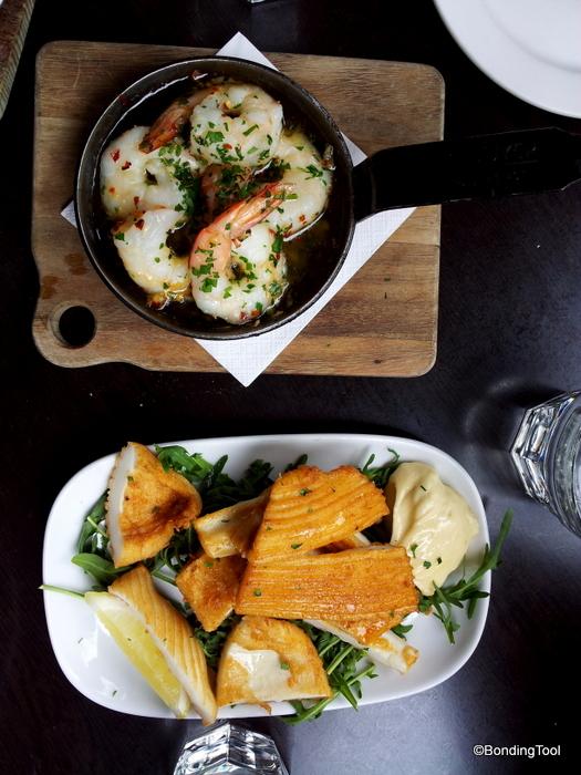 Garlic Prawns and Fried Calamari