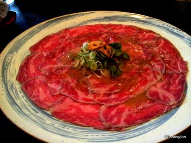 Hanabishi Jap Rest Melbourne Beef Tataki