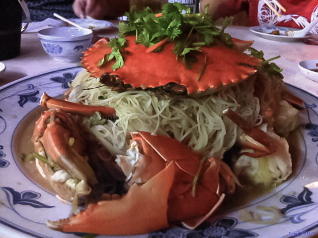 Sri Lankan Crab with Rice Vermicelli. 182 Seafood.