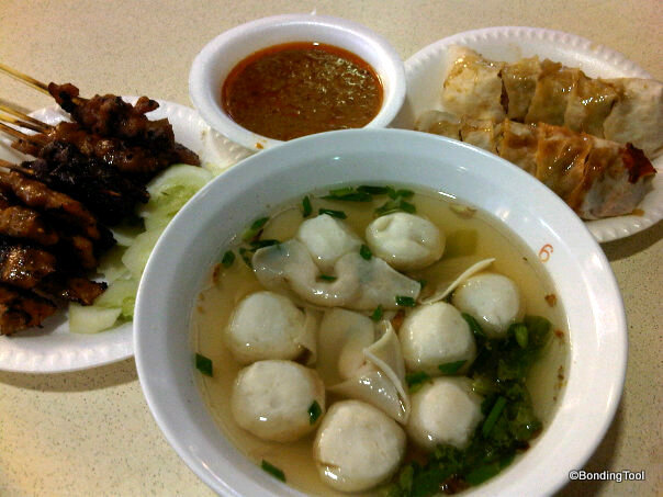 Satay Fish Ball Soup Popiah Newton