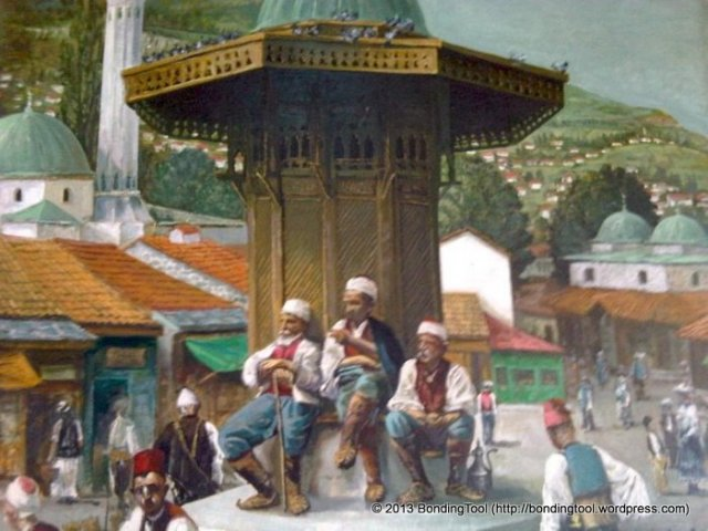 66the-very-square-where-i-had-lunch-old-bosnian-painting