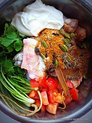 Chicken Biryani marinade