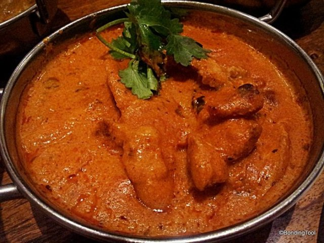 Butter Chicken - Tandoori-baked boneless chicken in a masala gravy Red Pepper©BondingTool