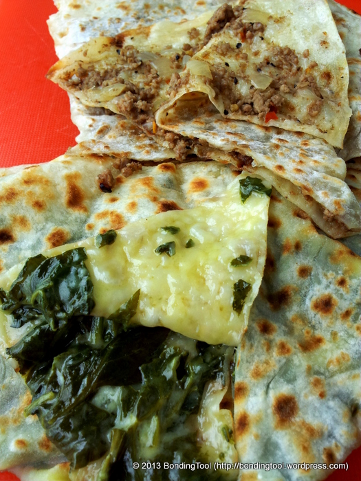 Gozleme Cheese and Spinach1 Borek Bakehouse ©BondingTool