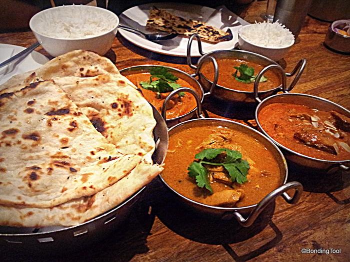 Naan, Butter Chicken, Chicken Tikka Masala, Chicken Classic Curry and ...