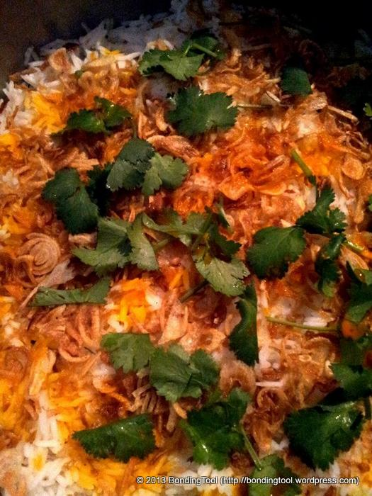 Nasi Briyani Rice with Saffron©BondingTool