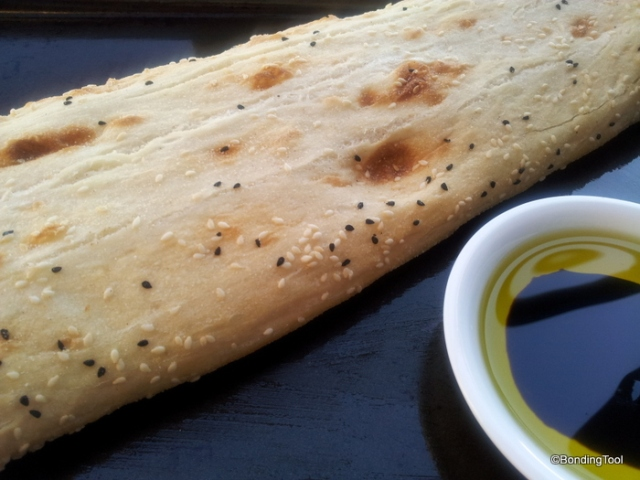 Turkish Bread with Olive and Balsamic Dip
