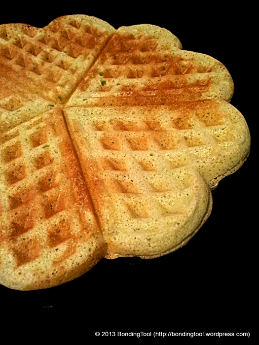 Pandan Flavoured Waffles3©BondingTool