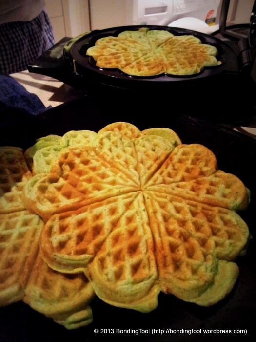 Pandan Flavoured Waffles