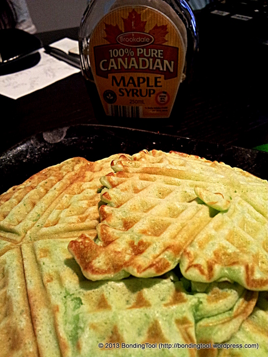 Pandan Flavoured Waffles6©BondingTool
