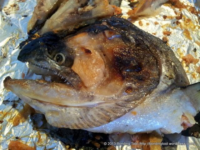 King Salmon Kama Shioyaki (Kama is the collar and cheek of fish, Shio ...
