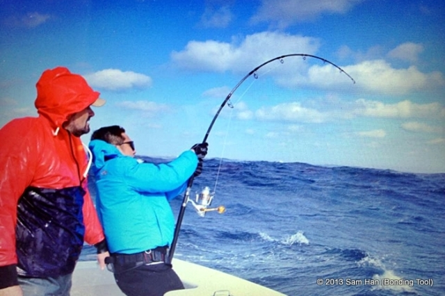 Glen had to fight for 2½ hours to reel in this monster size of a bluefin in OBS N. Carolina.