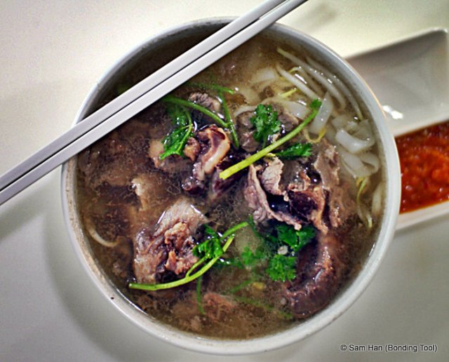 4 types of beef went into this simple bowl of noodles.