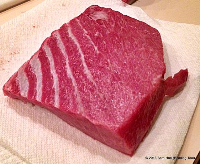 Bluefin Tuna Steak.