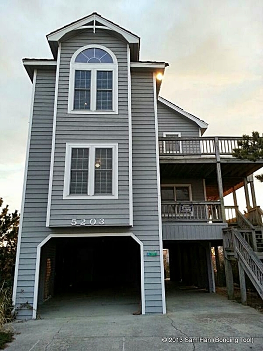 Outer Banks, North Carolina State - 3 level cottage with 4 bedrooms, a living and kitchen housed the boys during their fishing days.