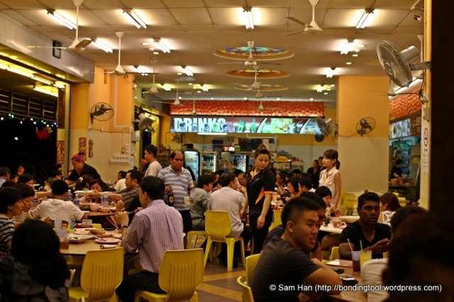 There were quite a number of Indian families and Indians with Chinese friends eating here.