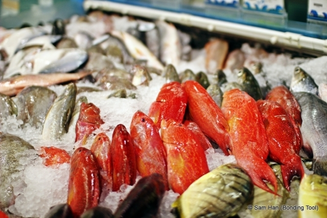 Fresh fish from NTUC supermarket at Marine Parade, Singapore.