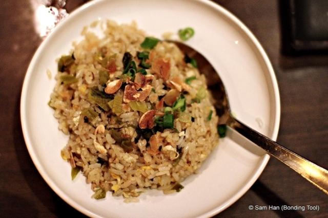 Garlic fried rice.