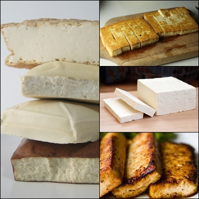 Some variety of processed Tofu.