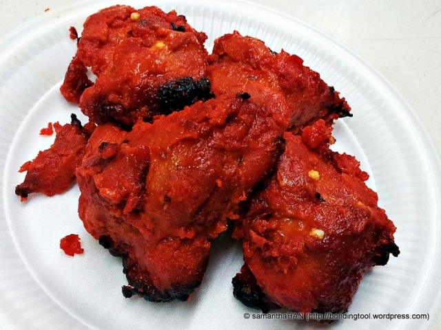 Chicken Tikka S$5 for 4 pieces. Good value as the chicken was tasty and tender.