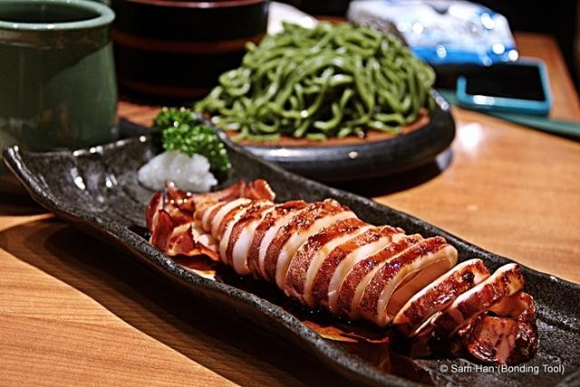 Ika Sugata with teriyaki sauce.