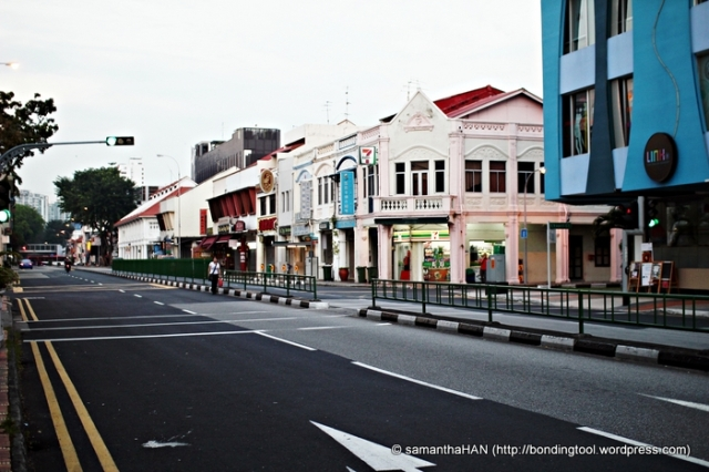 CMC housed along East Coast Road where I am standing (shophouses opposite depicts pre-war architecture).