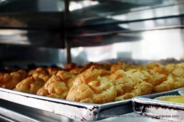 Custard puffs.