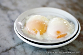 4-5 minutes soft-boiled eggs.