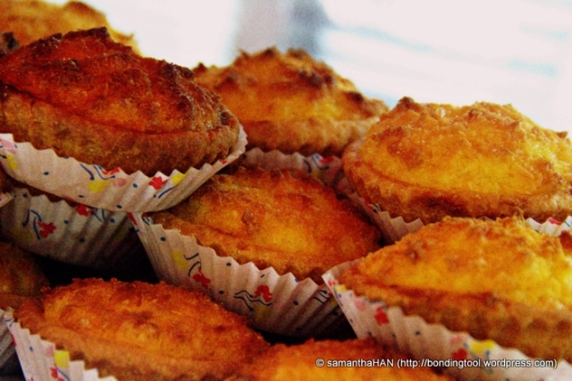 Coconut tarts - a Chinese delicacy for dessert.