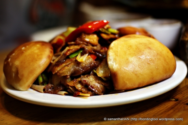 Stir-fried Pork with Chinese Buns - S$18.