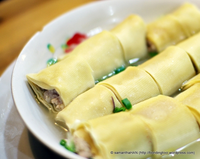 Steamed Beancurd Skin Pork Roll - S$10.