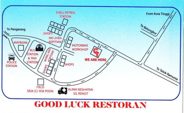 Good Luck Restoran Map