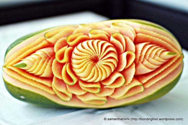 Zaza also works on bigger fruits like papayas, cantaloupes, honeydews, pumpkins and watermelons.