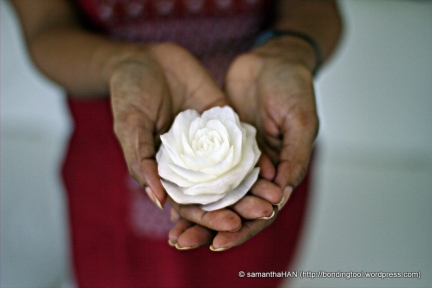 Radish Flower carved by Zaza.