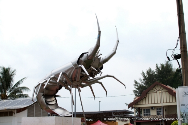The mascot of the town is a lobster! I wonder if it wanders at night???