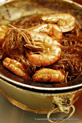 Prawns with Mungbean Noodles.