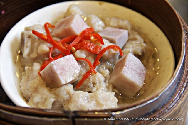 Steamed Pork Ribs with Yam.