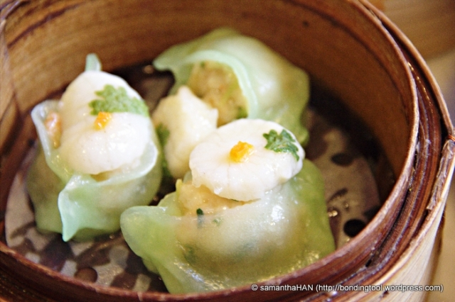 Scallop and Prawn dim sum.