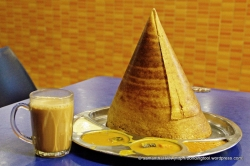 Thosai or Dosa(i) தோசை - is a fermented crepe or pancake made from rice batter and black lentils. It is indigenous to and is a staple dish in the southern Indian states of Karnataka, Andhra Pradesh, Tamil Nadu and Kerala, as well as being popular in Sri Lanka and Singapore.