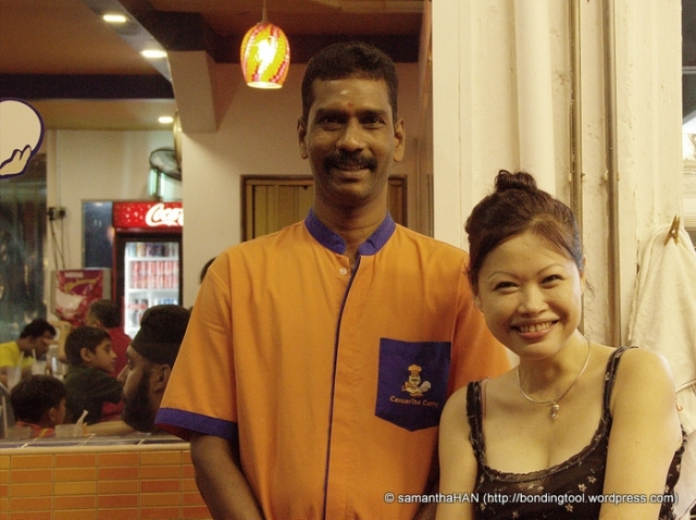 The tall friendly waiter who brought me to the paratha station for my photoshoot and video making the second time round.