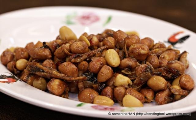 Spicy Ikan Bilis (Anchovies) and Peanuts.