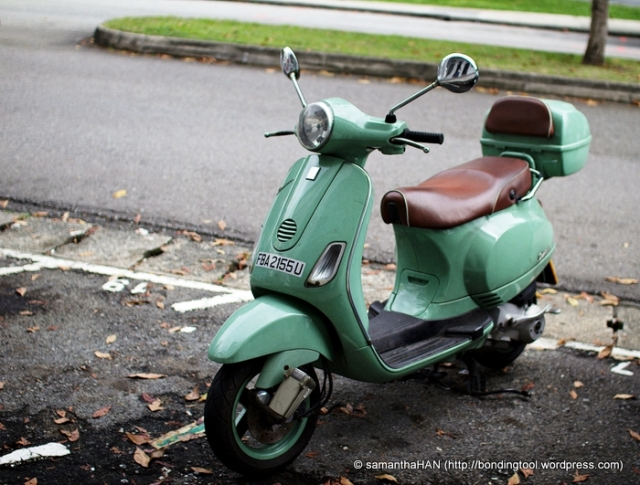 The mode of transportation - Vespa ;-)