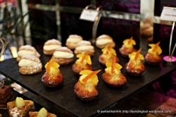 French Madaleines. Madeleines are very small sponge cakes with a distinctive shell-like shape acquired from being baked in pans with shell-shaped depressions.