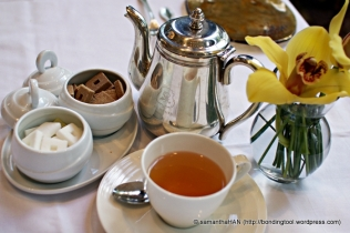 Elegant High Tea at Brasserie Les Saveurs St. Regis Hotel, Singapore.
