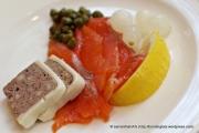 Pork Terrine and Smoked Salmon. P had 3 rounds of salmon.