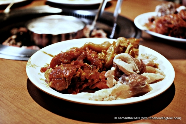 Chilli Pork and Chicken (marinated and plain).