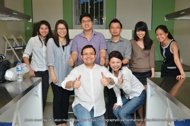 Back Left: Yunny Yong, Samantha Chan, Sawarto, Freddy, Ellie Lee, Estelle Tan Front: Calvin Huang and I ;-)