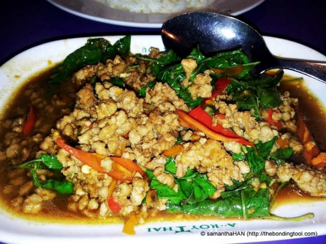 Minced Pork with Thai Basil.