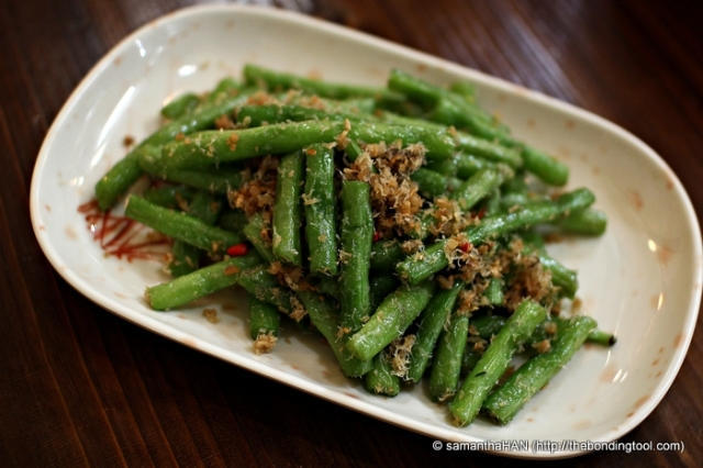 Long, Snake or String Beans with Dried Shrimps (a variation of 干煸四季豆 which usually uses French or Runner's Beans).